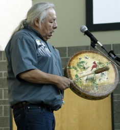 Elder John Sinclair at the 2017 Indigenous Day.