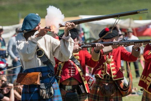 The Calgary Garrison is an outpost of the 78th Fraser Highlanders, dedicated to the preservation of the original Regiment and Canadian Military history of the mid-1700s and celebration of the contributions of the early Scots to Canadian culture. Photo taken at Days of Yore 2017 by Alex Shemetov.